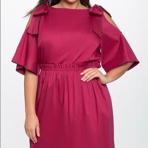 Bow tie cold shoulder dress - new with tags